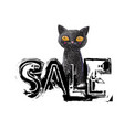 discount price tag in black color sale sign with vector image vector image