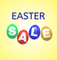 Easter sale background with eggs vector image vector image