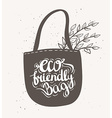 Eco bag with leaves Hipster Vintage Stylized vector image vector image