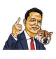 elon musk and doge dogecoin shiba inu dog vector image vector image