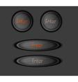 enter button vector image vector image