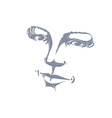 Facial expression hand-drawn of face of romantic g