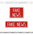 fake news design elements vector image vector image
