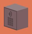 flat icon on stylish background money safe vector image