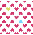 fun seamless heart background valentine s day vector image