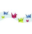 group various origami swan vector image vector image