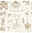 Hand drawn sketch circus seamless pattern vector image vector image