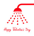 happy valentines day sign symbol red shower bath vector image vector image