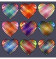 Heart Icon with Four Color Variations Abstract vector image vector image