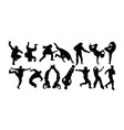 hip hop lifestyle silhouettes vector image