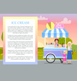 ice cream poster with text vector image vector image