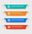 infographic banners color labels with steps and vector image vector image