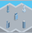 isometric construction set of skyscraper building vector image vector image