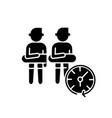 keep distance black glyph icon vector image