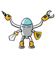 Knight robot vector image