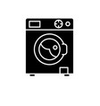 laundry machine black icon sign on vector image vector image
