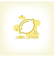 Lemon and healthy fruit design logo vector image