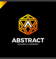 letter a tech industry logo template abstract vector image vector image