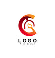 letter c logo spartan design and template vector image