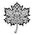 maple leaf with celtic ornament vector image vector image
