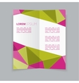 Modern design business two fold flyer template vector image vector image