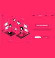 online dating - line design style isometric web vector image vector image