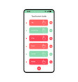 ouchscreen guide mobile interface template vector image