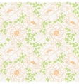 Peonies flowers with green leaves seamless pattern vector image