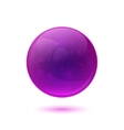 Purple glossy glass sphere vector image vector image