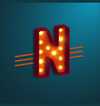 retro style letter n vector image vector image