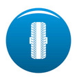 rubber tyre icon blue vector image vector image