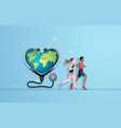 running for health vector image