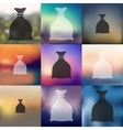 sack icon on blurred background vector image vector image