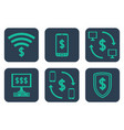 set of icons about online payments with dollar vector image vector image