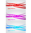 set wavy banners abstract background vector image