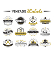 Shops And Cafe Vintage Labels vector image vector image