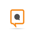 square orange speech bubble cartoon comic one vector image vector image