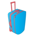 Suitcase over white vector image vector image