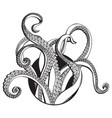 tentacles line drawing vector image vector image