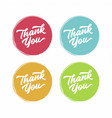 thank you abstract flat style badges vector image vector image