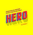 trendy 3d comical font design colorful alphabet vector image vector image