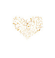 valentines day concept golden heart shapes heart vector image