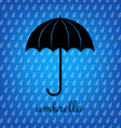 Vintage Black Umbrella vector image vector image