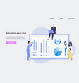 website interface for business analysis with vector image vector image