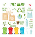 zero waste set in flat style vector image