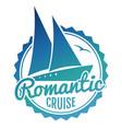water cruise logo design - yacht travel banner vector image