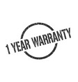 1 year warranty stamp vector image