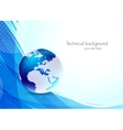 Abstract background with earth vector image vector image