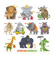 african animals cartoon wild animalistic vector image
