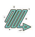arrow down right ups icon design vector image vector image